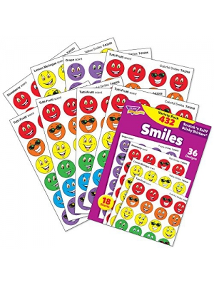 Trend Enterprises Smiles Variety Pack Stinky Stickers., 432/pkg (T-83903)