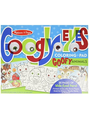 Melissa & Doug Wacky Animals - Googly Eyes Coloring Pad Toy