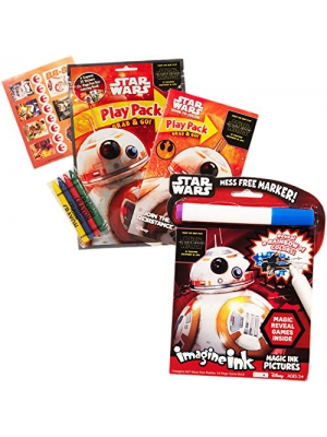 Star Wars Imagine Ink Book and Activity Pack Set with Stickers (Includes Mess Free Marker)