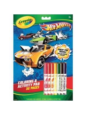 Crayola Hot Wheels Coloring and Activity Book with Markers