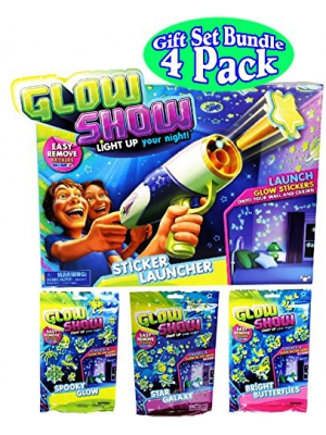 Glow Show Sticker Launcher and 3 Refill Theme Packs Bundle Set