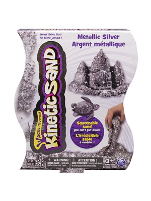 Kinetic Sand, 1lb Metallic Silver