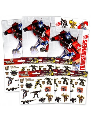 Transformers Tattoos and Stickers Party Favor Pack (150 Temporary Tattoos and 150 Stickers)