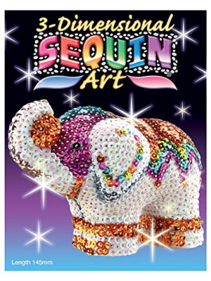 Sequin Art 3D, Elephant, Sparkling Arts and Crafts 3D Art Kit; Creative Crafts for Adults and Kids