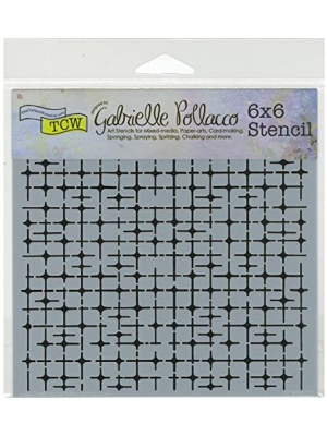 CRAFTERS WORKSHOP The 6x6 Stencil Tile Mania, 18 x 16 x 0.1 cm, Transparent