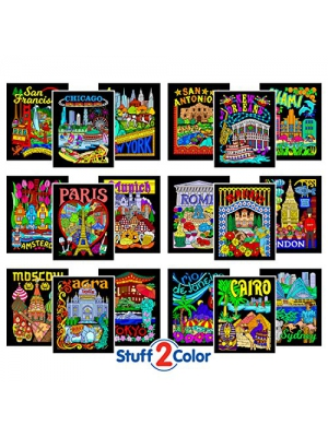 Super Pack of 18 Fuzzy Velvet 8x10 Inch Posters (Around the World Edition)