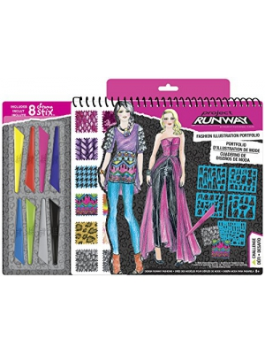 Fashion Angels Project Runway Fashion Illustration Portfolio with Chroma Stix
