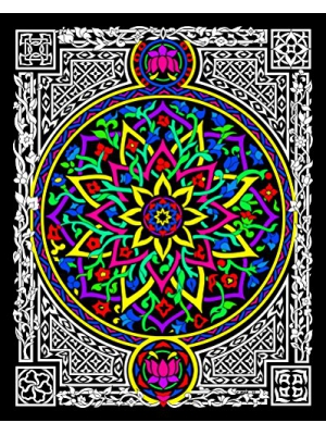 Lotus - 16x20 Fuzzy Velvet Detailed Coloring Poster