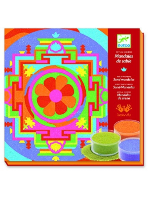 Djeco Colored Sand Art Kit, Tibetan Mandalas