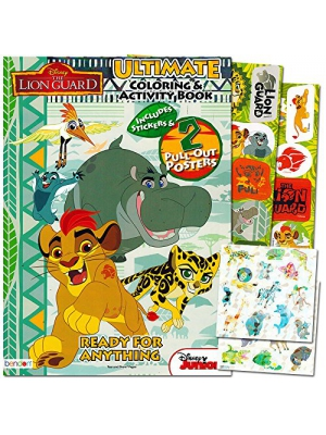 Lion Guard Coloring and Activity Book with 2 Poster, Lion Guard Stickers and Safari Sticker Pack