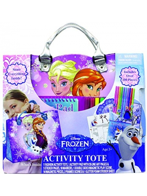 "Disney Frozen Creative Coloring, Sticker, and Activity ""Easy-Carry"" Tote Kit"