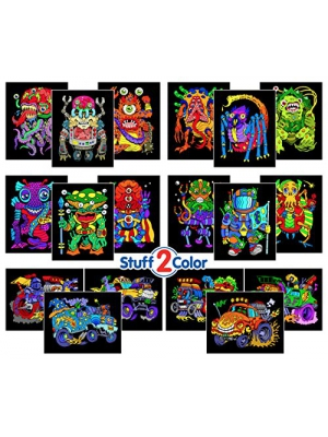 Super Pack of 18 Fuzzy Velvet 8x10 Inch Posters (Monsters Edition)