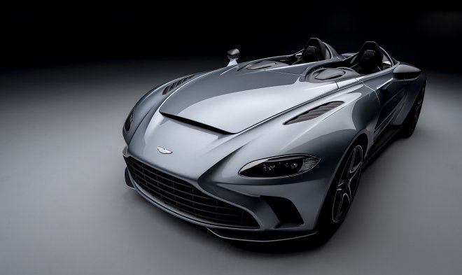 Aston Martin developed a unique speedster V12 no roof and windshield