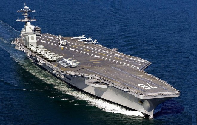US Navies have taken advantage of the most expensive aircraft carrier in the world