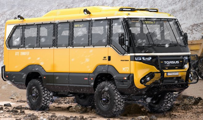 Ukrainian company Torsus released the world 's first bus-off-road vehicle