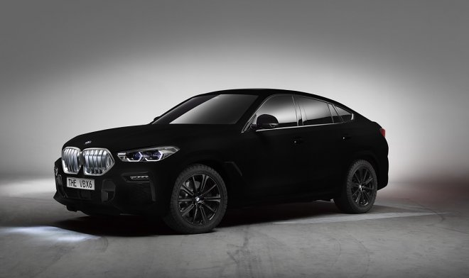 BMW will release the blackest car in the world h6 a Vantablack-coated car