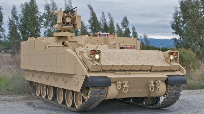 The US Army received new advanced armored vehicles
