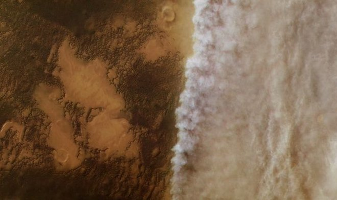 The Martian dust storm in which Opportunity perishes has captured all planet