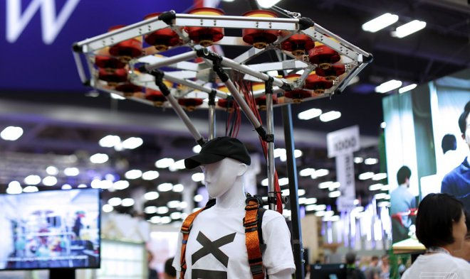 The Japanese startup develops a backpack which will increase spring ability of the person several times