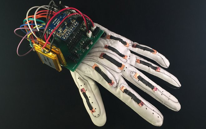 The clever glove will translate a sign language v  text messages