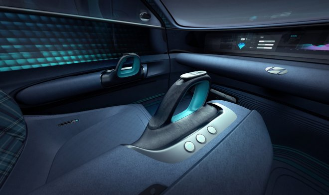 Hyundai suggests replacing the familiar car steering with comfortable joysticks