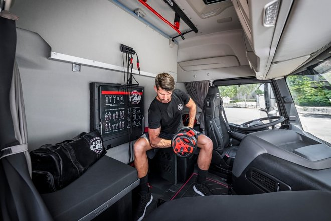 Cabins of the Iveco trucks will become similar to fitness studios