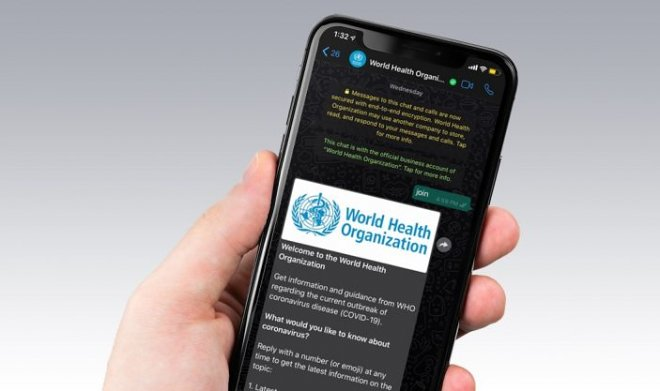 The WHO launched WhatsApp official channel with information on coronavirus