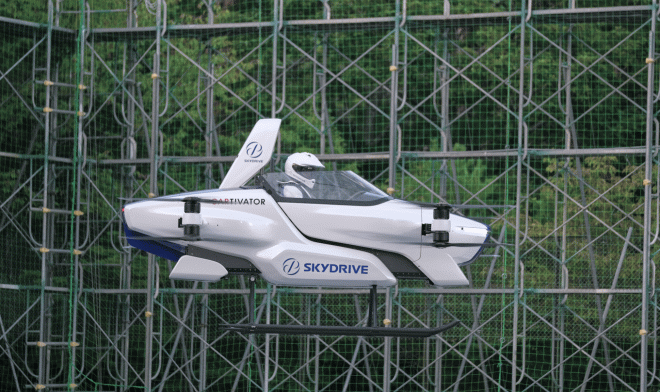 Personal transport copter SkyDrive SD-03 made the first public flight