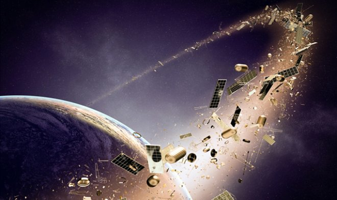 The way of identification of space debris by the laser