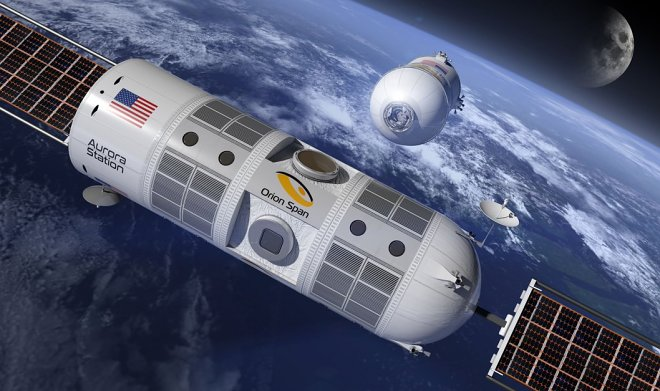 In four years in an orbit of Earth the space hotel Station Aurora