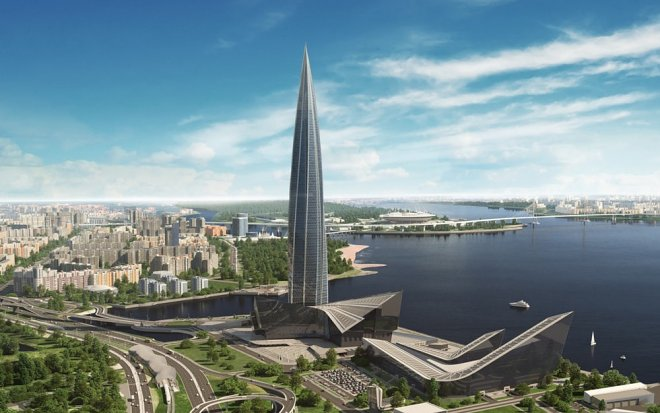 In St. Petersburg construction Lahta of the Center, the highest building of Europe