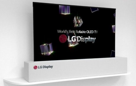 LG presents the flexible 65-inch OLED TV which can be curtailed into a tube