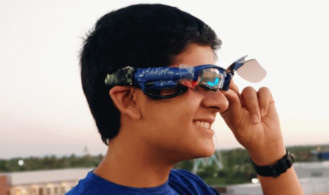 A 16-year-old teenager created smart glasses that are cheaper and more efficient than Google models