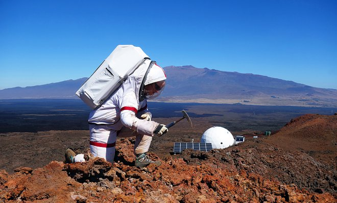 The experiment imitating 12-month stay on Mars