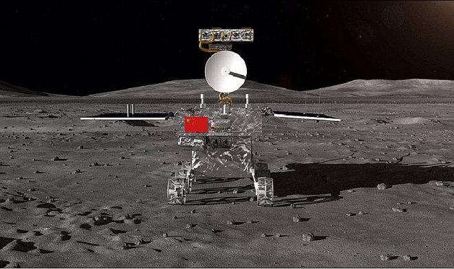 The Chinese Chanje-4 module for the first time landed on a reverse side of the Moon