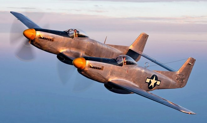 The only surviving fighter r-82 Twin Mustang is for sale