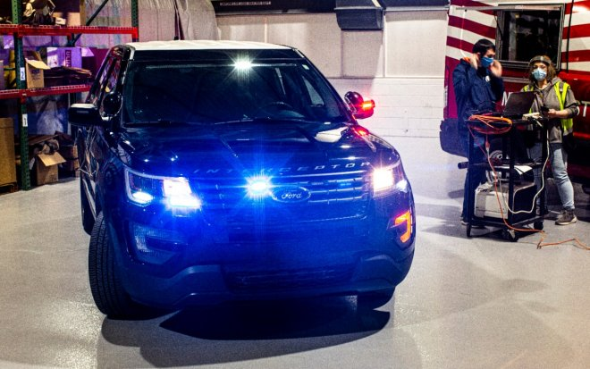 Ford developed a burn-through mode to disinfect police cars