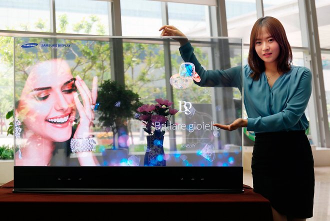Samsung has presented the first mirror and transparent OLED displays