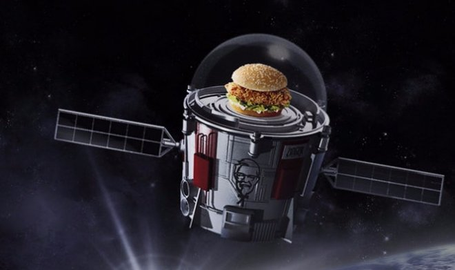 KFC sandwich will go to space s  an important mission