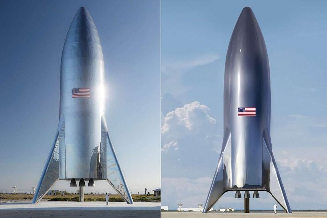 SpaceX presented the first ship for flights to Mars and the Moon