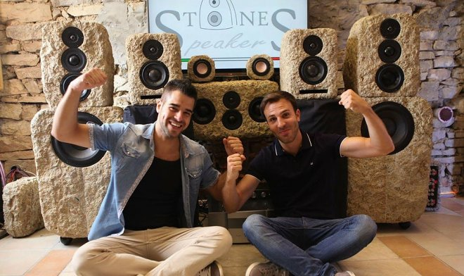 The Italian startup has started production of speaker systems from a stone