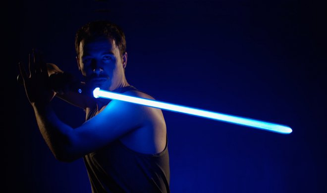 The engineer created a real light sword with a blade temperature of 2200 degrees