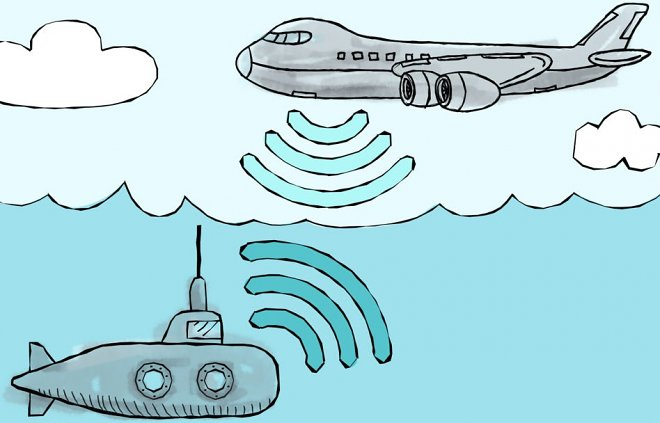The new wireless communication will unite heaven and the underwater world