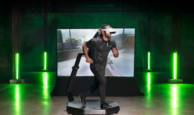 The Omni One VR track will be able to replace the home gym