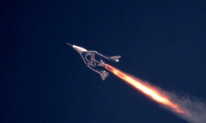 Kosmoplan VSS Unity has reached speed 2,4 Move and <br> <br> Kosmoplan VSS Unity starting on July 26 with a board of the flying VMS Eve spaceport of the Virgin Galactic company has directed to the mesosphere