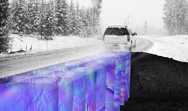 The WaveSense georadar will allow see self-driving cars the road under any rainfall