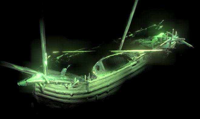 At the bottom of the Baltic Sea perfectly remained ship is found age it is more than 500 years