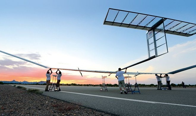 The Zephyr UAV has set a world record of duration of flight on solar batteries